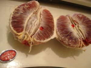 they're not called blood oranges for nothing.
