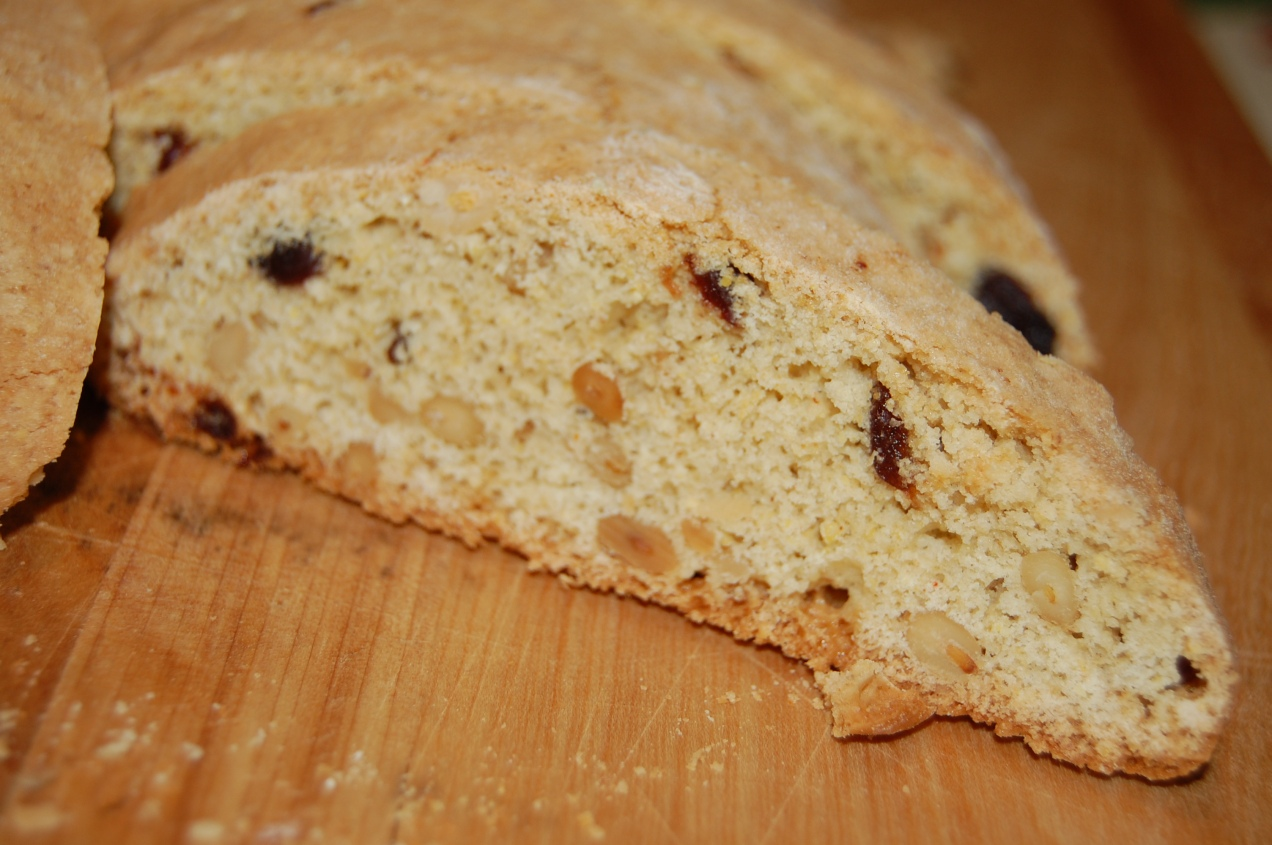 cornmeal-cherry-pine nut biscotti