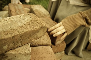 the broken bricks
